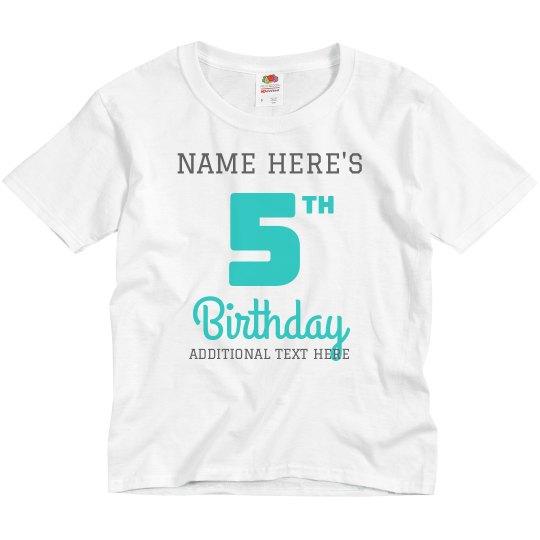 Custom Matching Sibling Birthday Shirt
