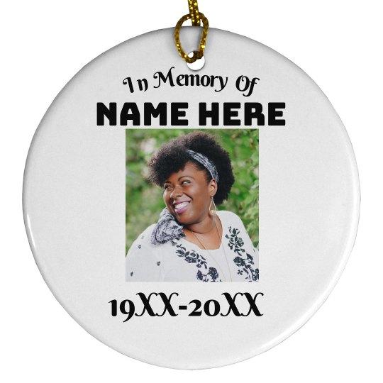 Custom Memorial Ornament