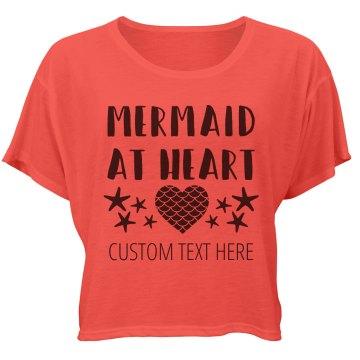 Custom Mermaid Heart Crop