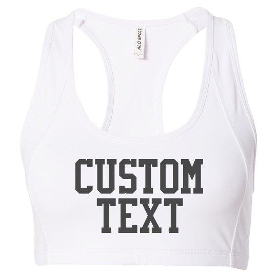 Custom Mesh Back Sports Bra