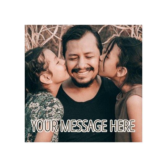 Custom Message Family Photo Plank