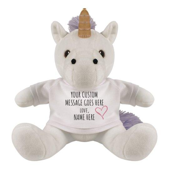 Custom Message Unicorn Gift