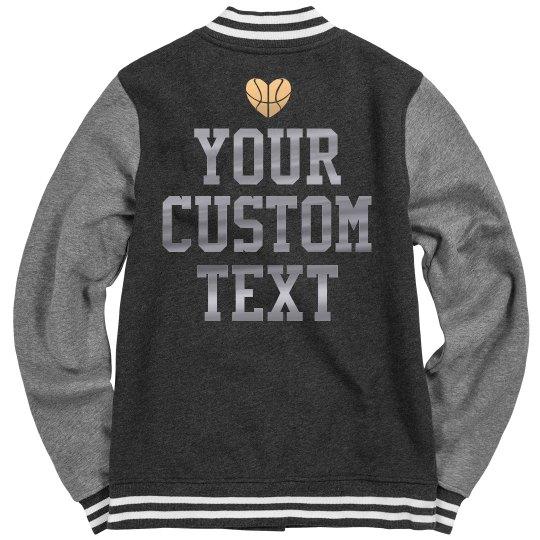 Custom Metallic Basketball Jacket