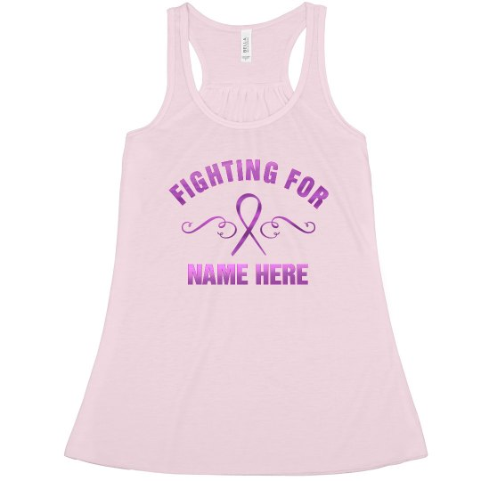 Custom Metallic Breast Cancer Fight Racerback