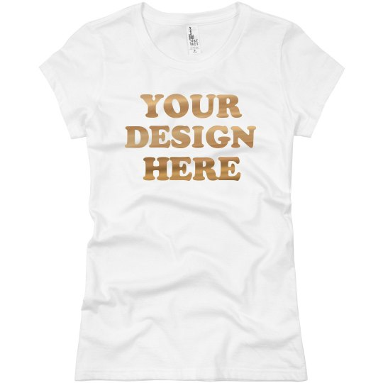 Custom Metallic Gold Foil Shirts Great for Groups
