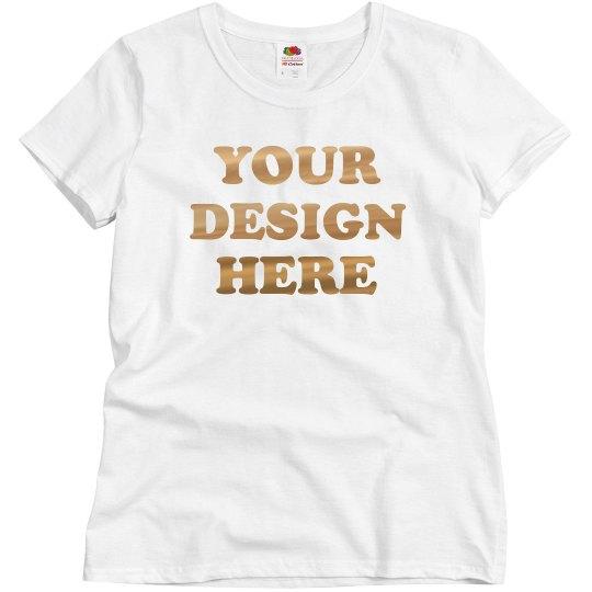 Custom Metallic Gold Foil Shirts