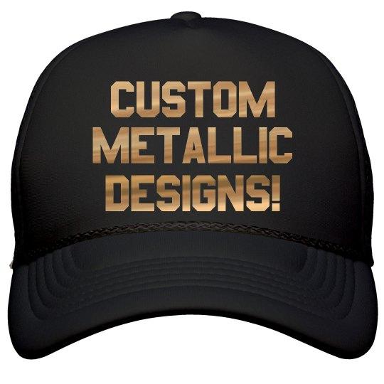 Custom Metallic Print Trucker Hats