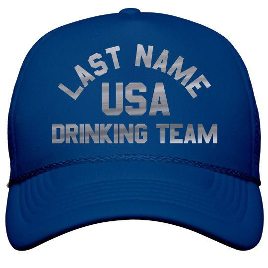 Custom Metallic Silver USA Drinking