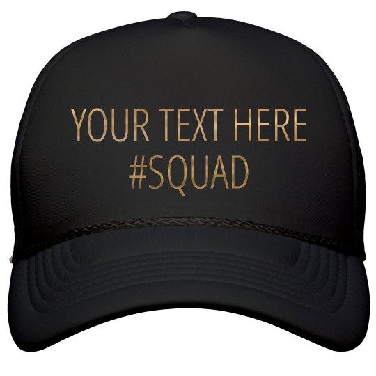 Custom Metallic Squad Text