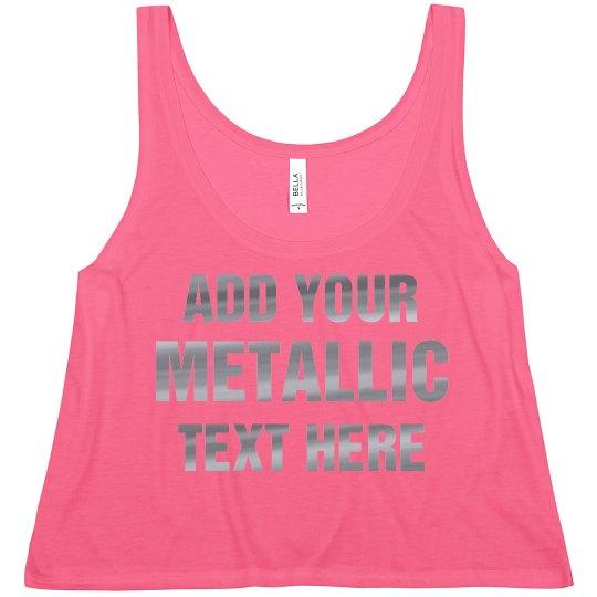 Custom Metallic Text 4th Of July