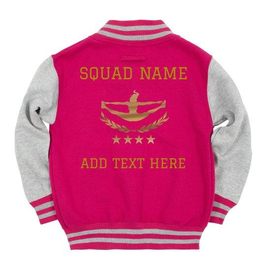 Custom Metallic Text Cheer Squad