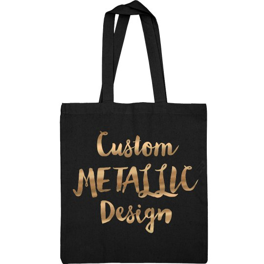 Custom Metallic Tote Bag Design