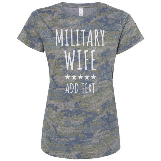 Custom Military Wife Camo