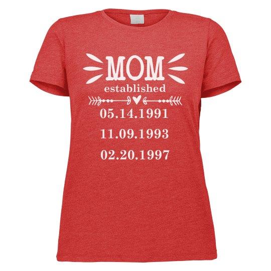 Custom Mom Birthday
