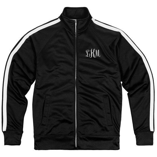 Custom Monogram Sporty Zip Jacket