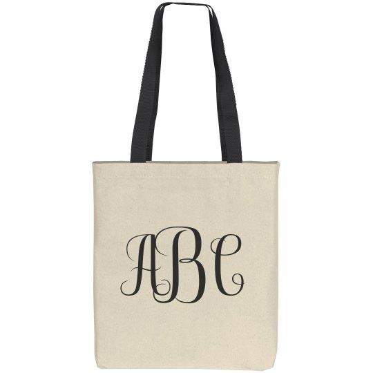 Custom Monogram Tote Bag Gift