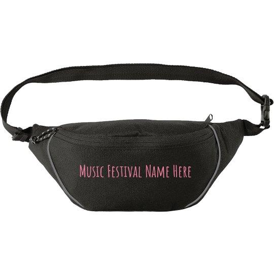 Custom Music Festival Hip Pack
