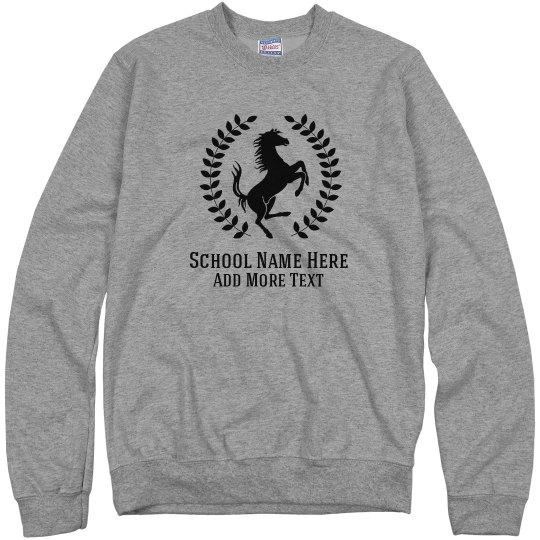 Custom Mustang School Mascot Sweater