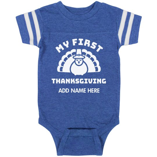Custom My First Thanksgiving Bodysuit