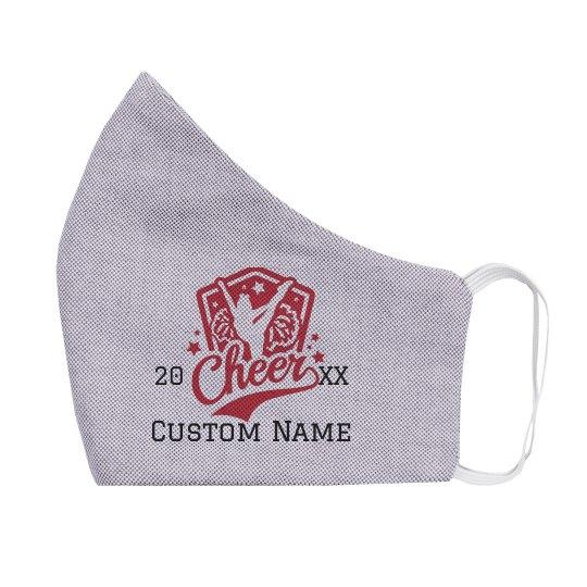 Custom Name & Date Kids Cheer Mask