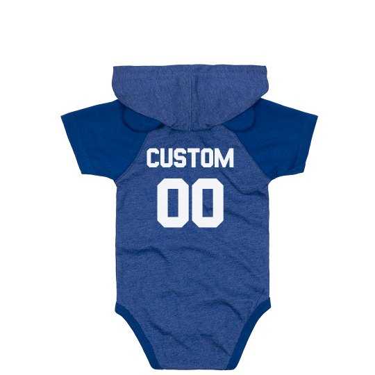 Custom Name & Number Adorable Sports Baby Bodysuit