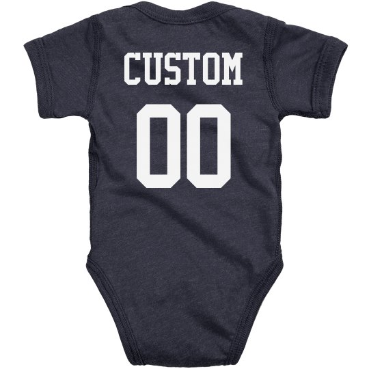 Custom Name & Number Baby Outfit