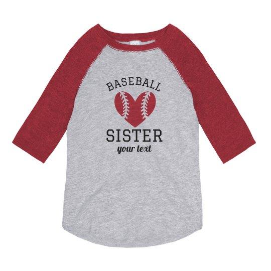 Custom Name & Number Baseball Sister Tee
