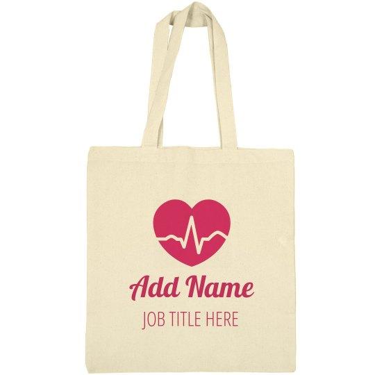 Custom Name & Text Nurse Bags