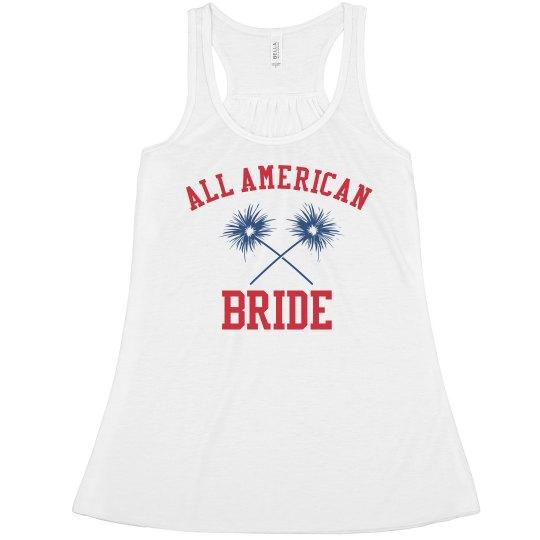 Custom Name American Bride Tank