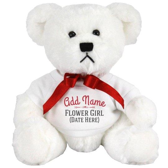 Custom Name And Date Flower Girl Bear