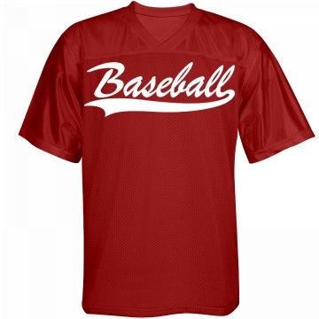 Custom name and number baseball jersey