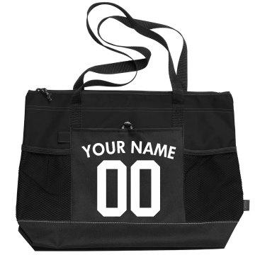 Custom Name And Number Sports Bag