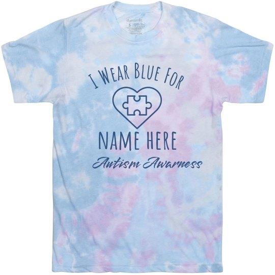 Custom Name Autism Awareness Tee