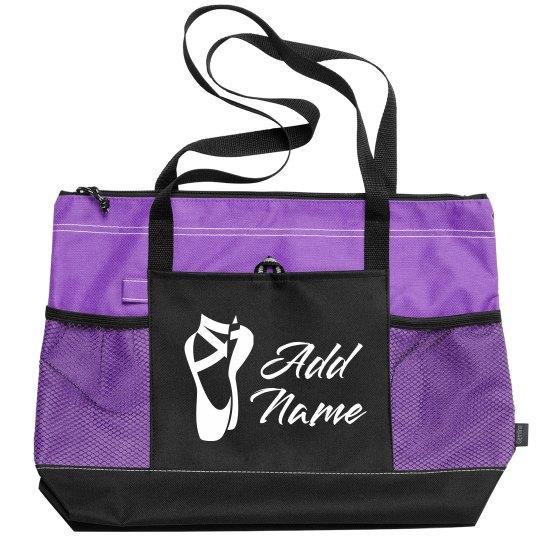 Custom Name Ballet Practice Bag