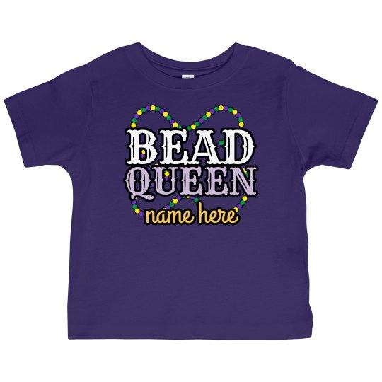 Custom Name Bead Queen Top
