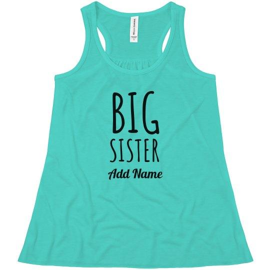 Custom Name Big Sister