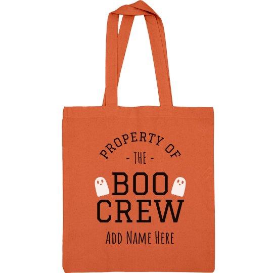 Custom Name Boo Crew Cand Bag