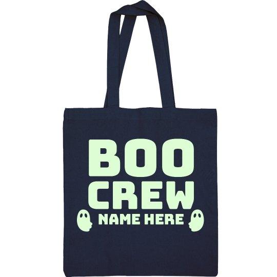 Custom Name Boo Crew Treat Bag