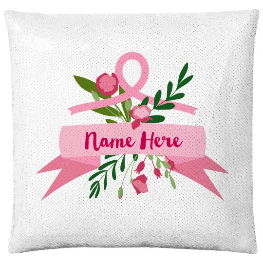 Custom Name Breast Cancer Pillow