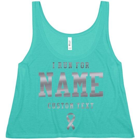 Custom Name Cancer Charity Run