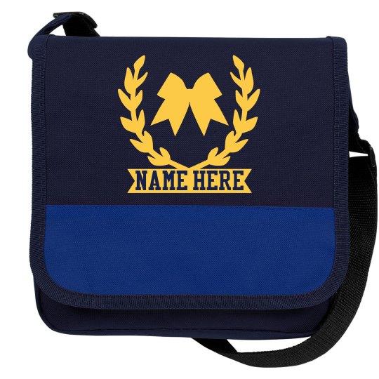 Custom Name Cheer Bow Cooler Bag