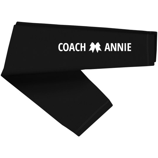 Custom Name Cheer Coach Leg Print