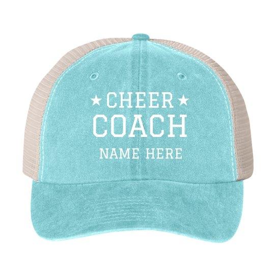 Custom Name Cheer Coach Stars