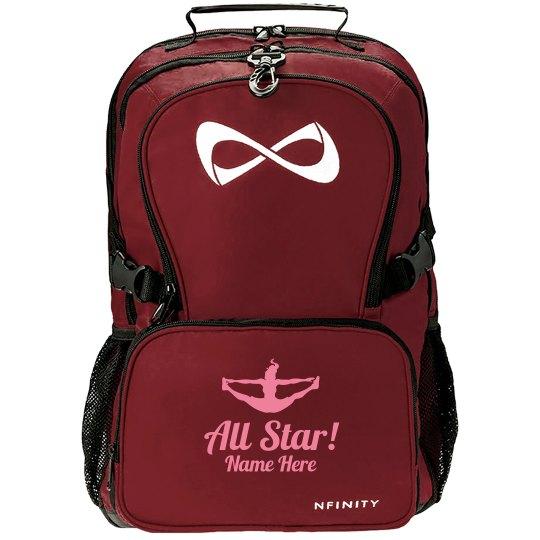 Custom Name Cheerleading All Star Nfinity Backpack
