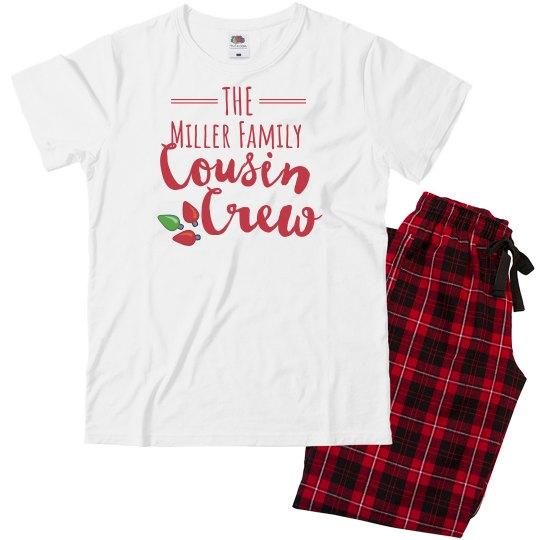 Custom Name Cousin Crew Youth Pajama Set