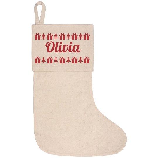 Custom Name Cute Gift Stocking