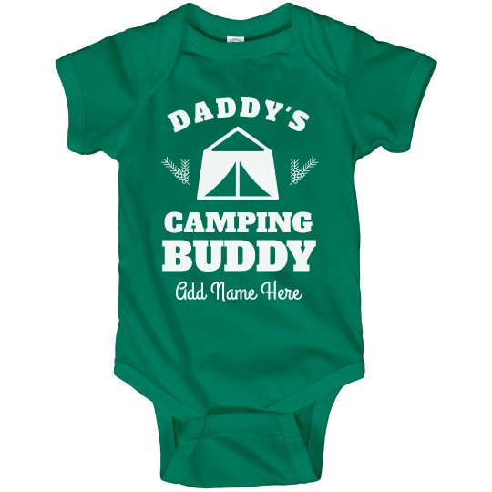 Custom Name Daddy's Camping Buddy