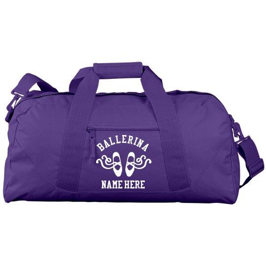 Custom Name Dance Class Gym Bag