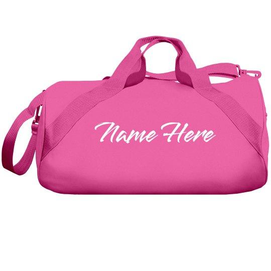 Custom Name Duffel Bag