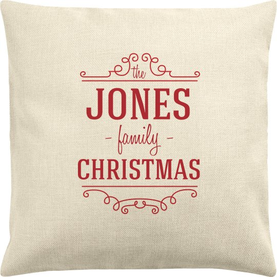 Custom Name Family Christmas Pillow